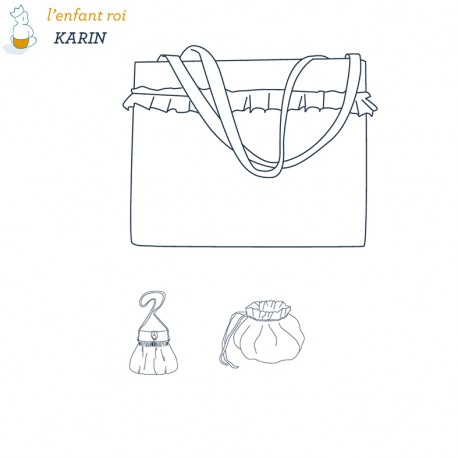 Karin bags L'Enfant Roi sewing pattern