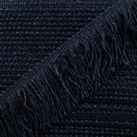 Frange Charleston lurex 55mm - bleu nuit x50cm