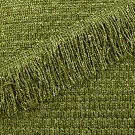 Frange Charleston lurex 55mm - vert x50cm