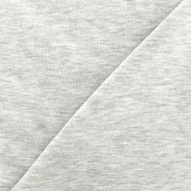 Tissu sweat léger chiné - écru x 10cm