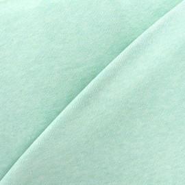 Tissu sweat léger chiné - vert d'eau x 10cm