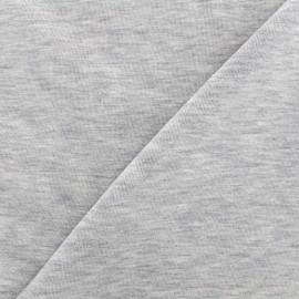 Tissu sweat léger chiné - gris clair x 10cm