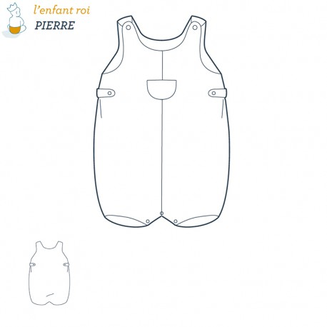 Pierre Overalls L'Enfant Roi sewing pattern - From 3 months to 2 years old