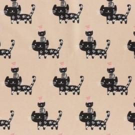 Tissu Jersey Stenzo Petits chats - vieux rose x 12cm
