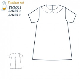 Emma Dress L'Enfant Roi sewing pattern - From 3 months 2 to 12 years old