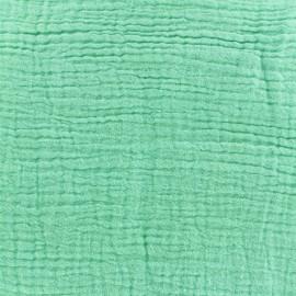Tissu Oeko-Tex double gaze de coton- Mint Oeko-tex Camillette création x 10cm