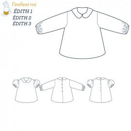 Patron l'Enfant Roi Chemisier Edith - de 3 mois à 12 ans