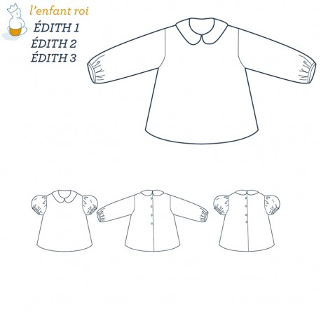 Edith Blouse L'Enfant Roi sewing pattern - From 3 months to 12 years old