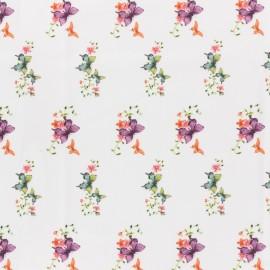 Tissu Jersey Romantic butterfly - blanc x 10cm