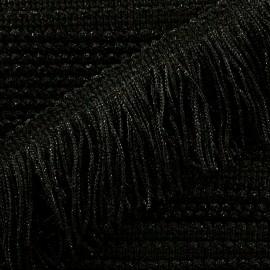Frange Charleston lurex 55mm - noir x50cm