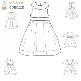 Corolle Dress L'Enfant Roi sewing pattern - From 2 to 8 years old