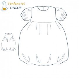Chloé Dress L'Enfant Roi sewing pattern - From 2 to 8 years old