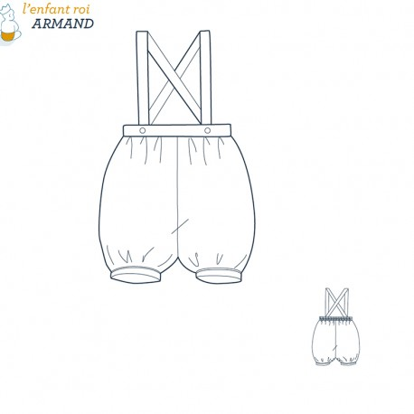 Armand Knickers L'Enfant Roi sewing pattern - From 3 months to 2 years
