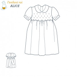 Patron l'Enfant Roi Robe Alice  - de 2 ans à 8 ans