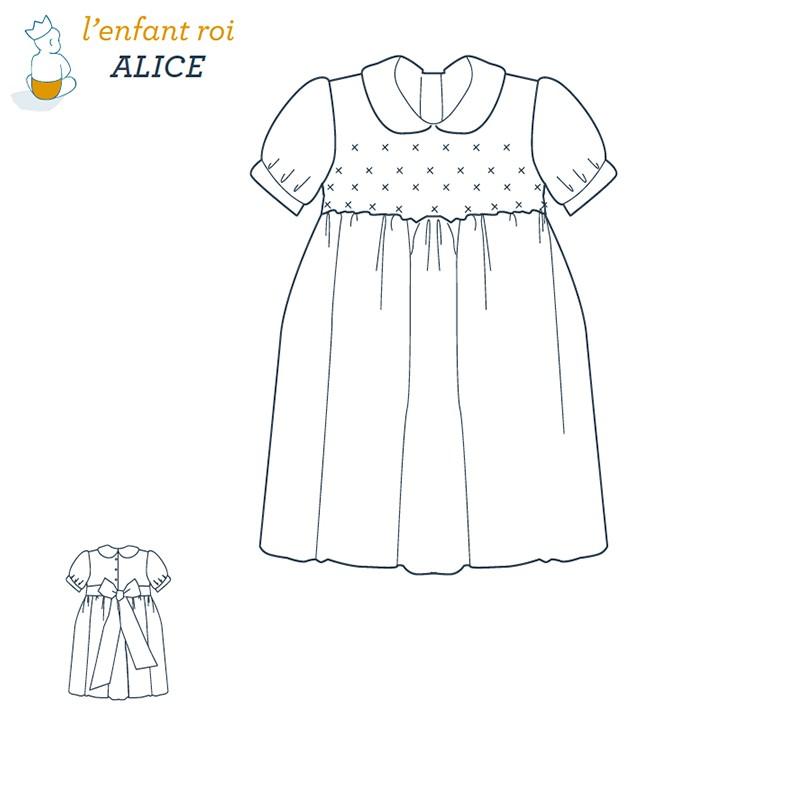 1ac042387c761 Patron l Enfant Roi Robe Alice - de 2 ans à ...