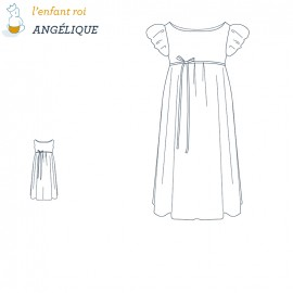 Angelique Dress L'Enfant Roi sewing pattern - From 2 to 10 years old