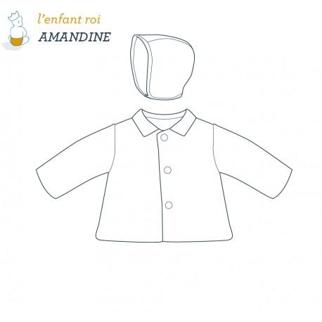 Patron l'Enfant Roi Veste Amandine - de 12 mois à 2 ans