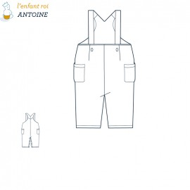 Antoine Overalls L'Enfant Roi sewing pattern - From 3 months to 2 years old
