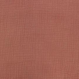 Tissu double gaze de coton Oeko-tex - Terra Cotta Camillette création x 10cm