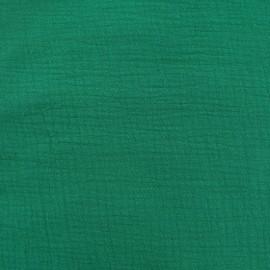 Oeko-tex double gauze fabric - Emeraude Camillette création x 10cm
