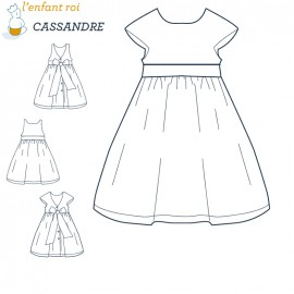 Cassandre Dress L'Enfant Roi sewing pattern - From 2 to 10 years old