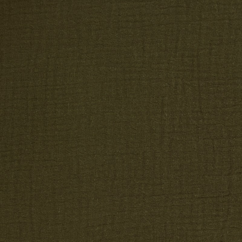 tissu double gaze de coton oeko tex olive camillette cr ation. Black Bedroom Furniture Sets. Home Design Ideas