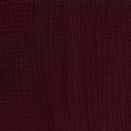 Tissu double gaze de coton Oeko-tex - Pruline Camillette création x 10cm