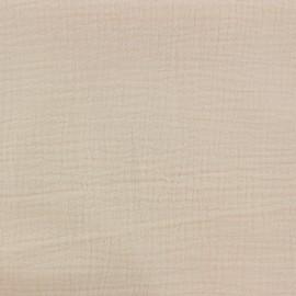 Tissu double gaze de coton Oeko-tex - Nude Camillette création x 10cm