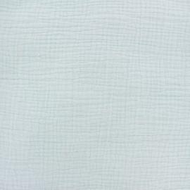 Tissu double gaze de coton Oeko-tex - Aqua light Camillette création x 10cm