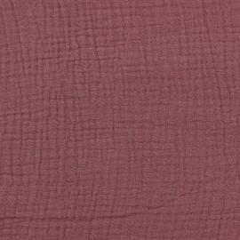 Tissu double gaze de coton Oeko-tex - Rosagé Camillette création x 10cm