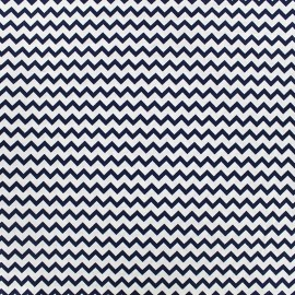 Poppy cotton fabric Marine Chevron - white x 10cm