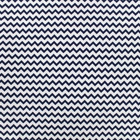 Poppy cotton fabric Marine Chevron - white x 10cm