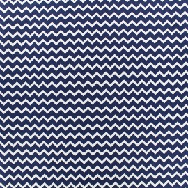 Poppy cotton fabric Marine Chevron - night blue x 10cm