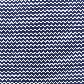 Tissu Poppy Marine Chevron - bleu nuit x 10cm