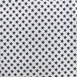 Poppy cotton fabric Marine Etoile de mer - white x 10cm