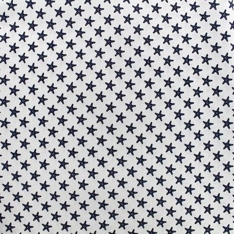 Tissu Poppy Marine Etoile de mer - blanc x 10cm
