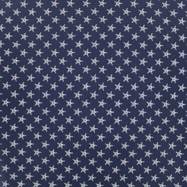 Tissu Poppy Marine Etoile de mer - bleu nuit x 10cm