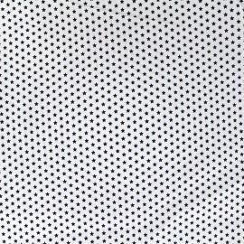 Poppy cotton fabric Marine Petites étoiles - white x 10cm