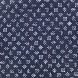 Poppy cotton fabric Marine Gouvernail - night blue x 10cm