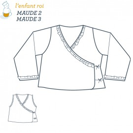 Maude Wrap-around L'Enfant Roi sewing pattern - From 2 to 12 years old