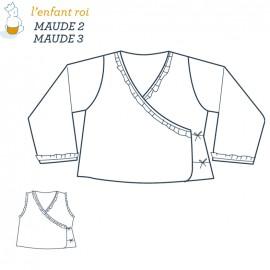 Patron l'Enfant Roi Cache-coeur Maude - de 2 ans à 12 ans