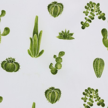 Tissu batiste - Cactus mi amor Camillette création x 10cm