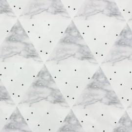 Batiste fabric - Graphic Marble Camillette création x 10cm