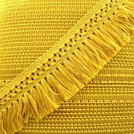 Ruban galon franges dentelle au crochet 65mm - safran x 1m