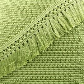 Ruban galon franges dentelle au crochet 65mm - avocat x 1m