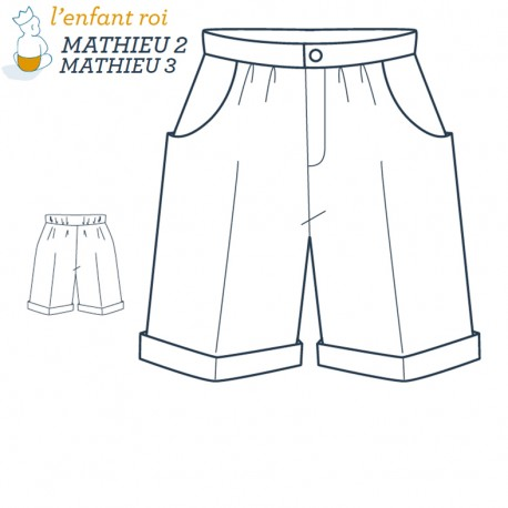 Mathieu Underwear L'Enfant Roi sewing pattern - From 2 to 12 years old