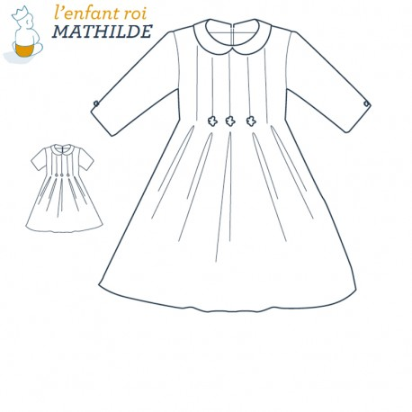Mathilde Dress L'Enfant Roi sewing pattern - From 2 to 8 years old