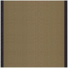 ♥ Coupon tissu 20 cm X 43 cm ♥ toile transat Uni Taupe/Bord Noir (43cm)