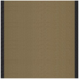 Tissu toile transat Uni Taupe/Bord Noir (43cm) x 10cm