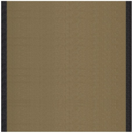 Deckchair Canvas Fabric - Taupe/Black border (43cm) x 10cm